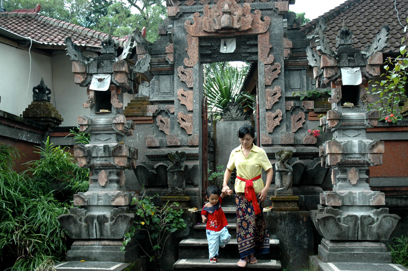 a neighborhood temple, Ubud, Bali