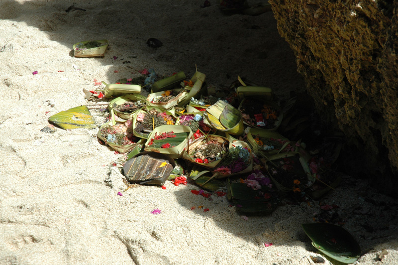Offerings on the beach