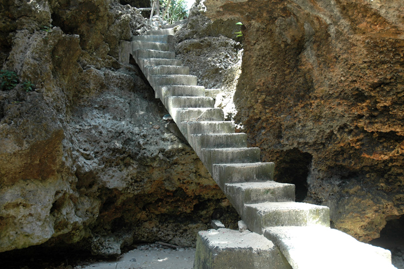 Blue Point steps down to beach