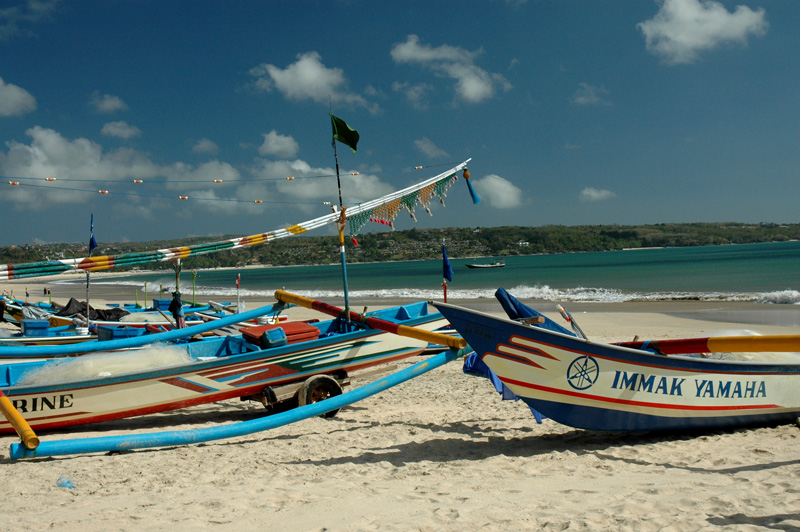 fishing boats at Jimbaran Beach