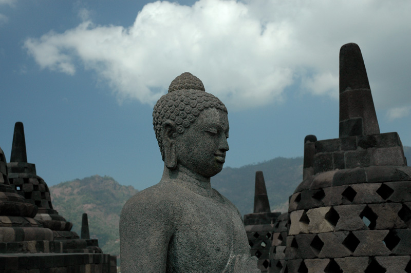 Unfinished stupa at Borobudur